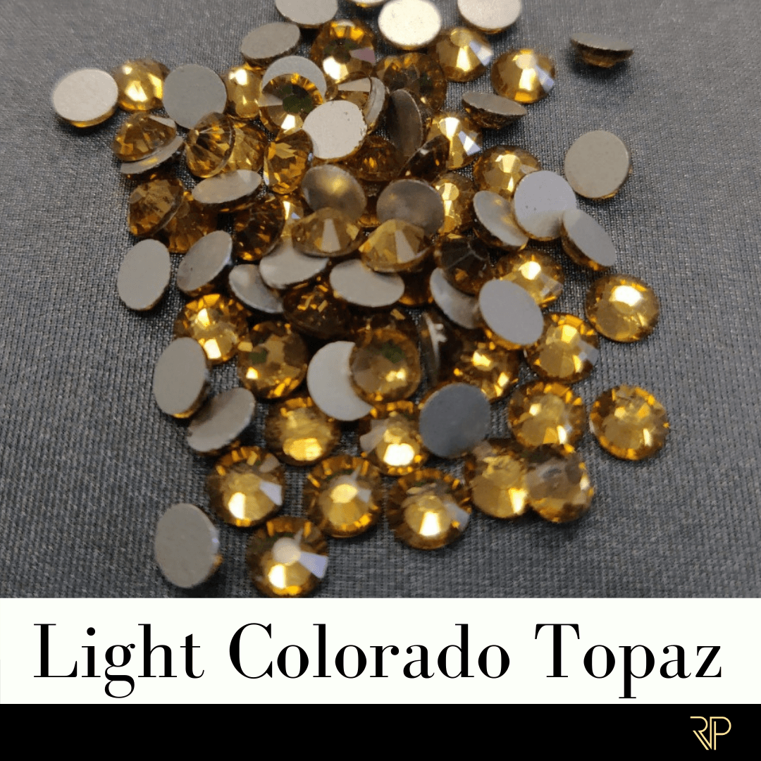 Light Colorado Topaz Crystal Color Rhinestone (10 Gross Pack)