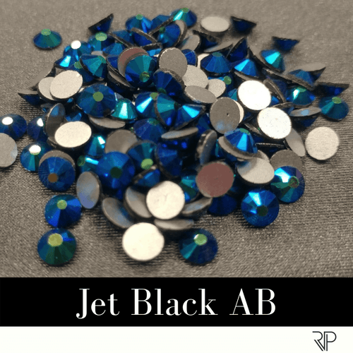 Jet Black AB Crystal Color Rhinestone (10 Gross Pack)