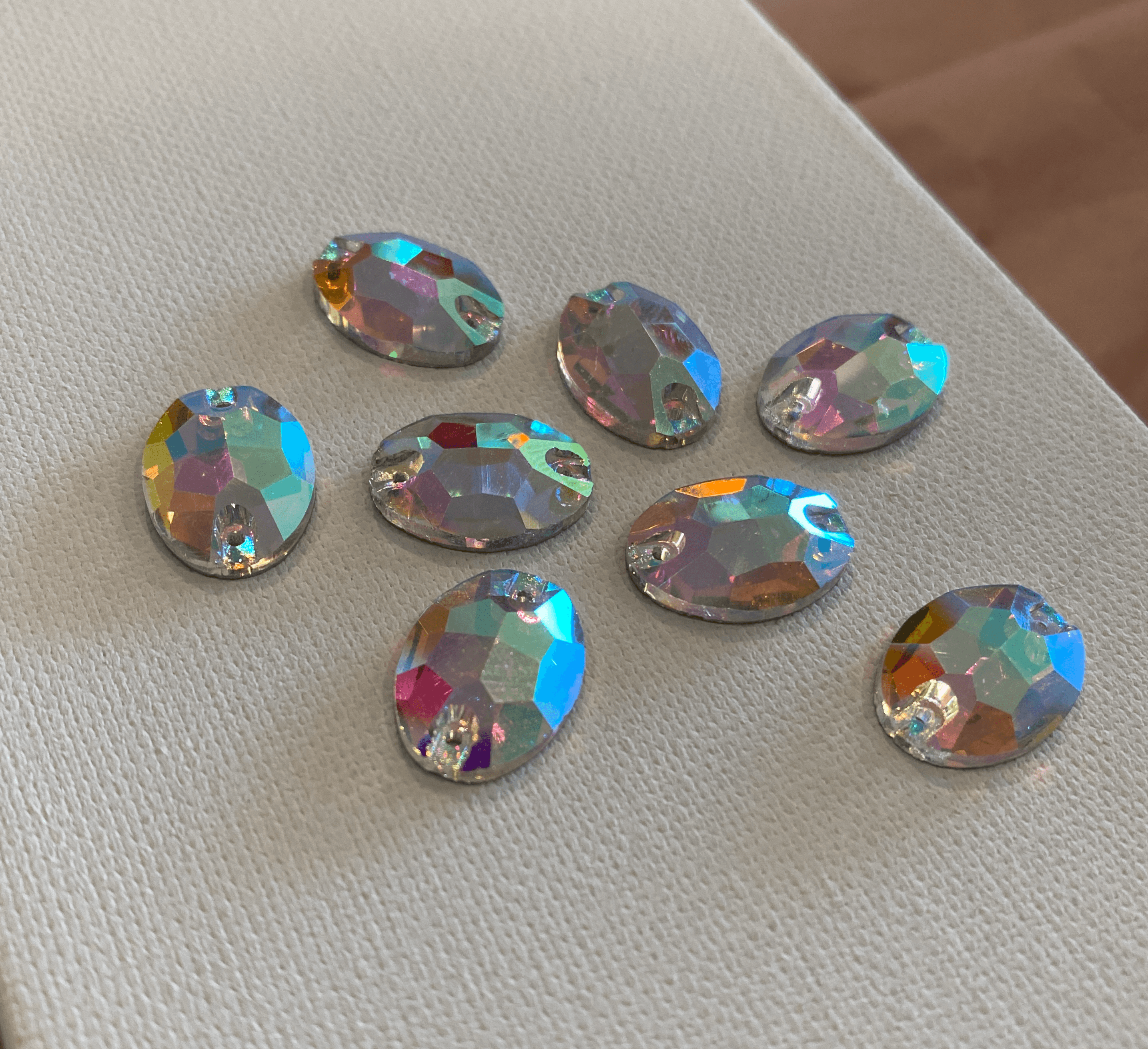 Ellipse Sew On Rhinestones