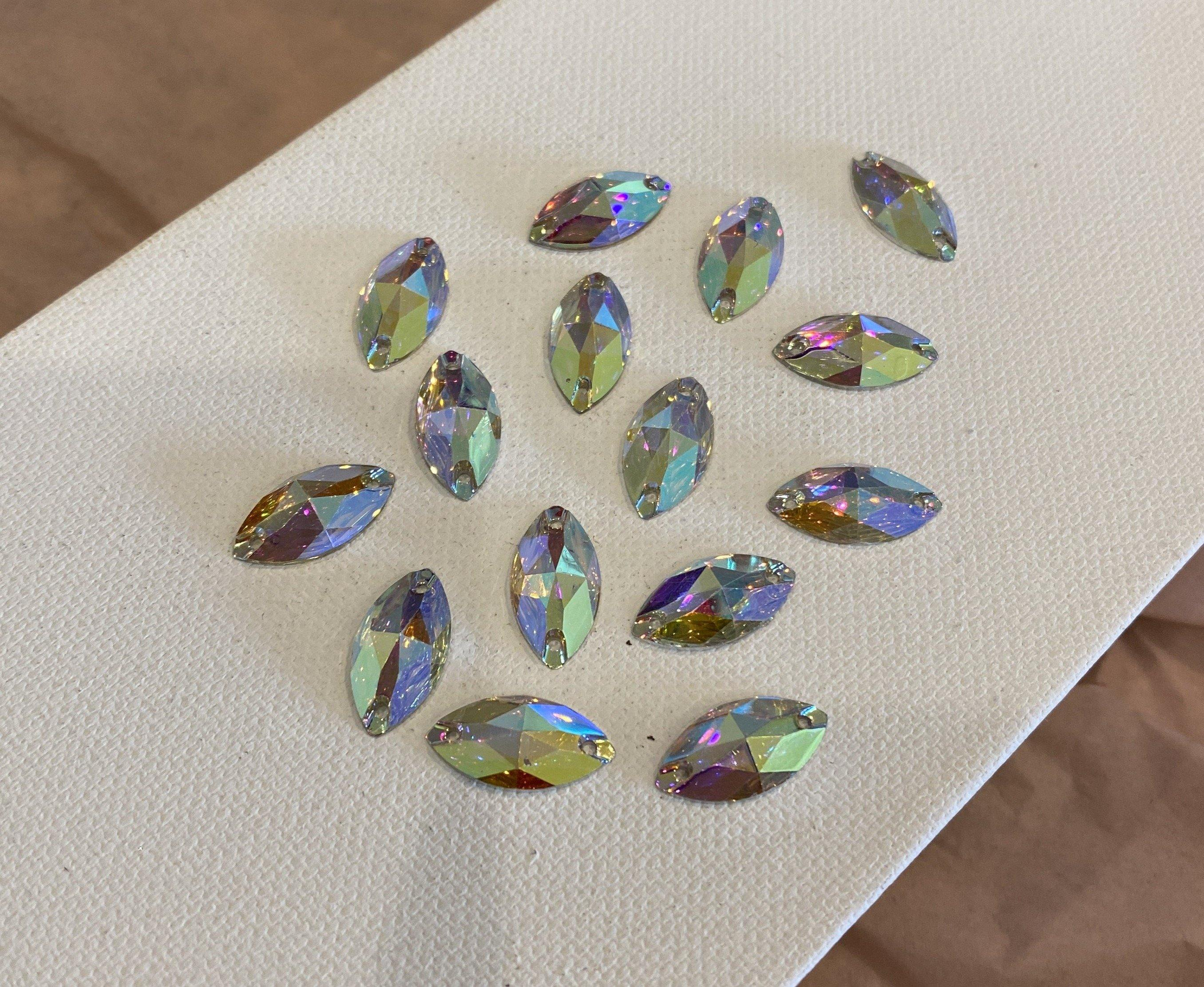 Nanette-Leaf Sew-On Rhinestones (9mm x 18mm)