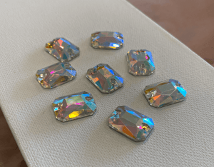Emerald Cut Rectangle Sew-On Rhinestones