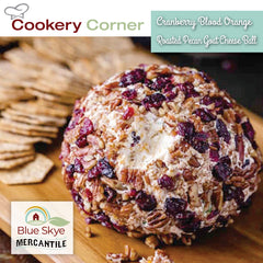 Cranberry Blood Orange Roasted Pecan Goat Cheese Ball