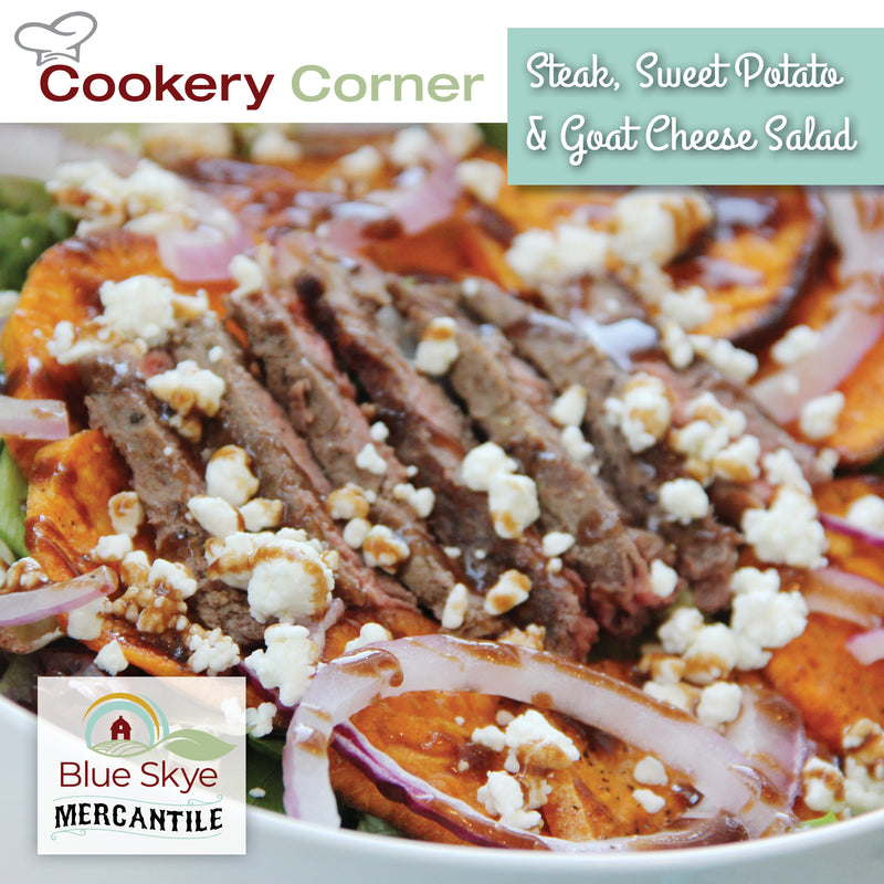 Steak, Sweet Potato and Goat Cheese Salad