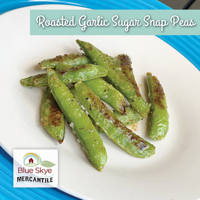 Roasted Garlic Sugar Snap Peas