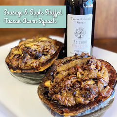 Sausage & Apple Stuffed Tuscan Acorn Squash