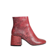 Block Heel Boot Reptile