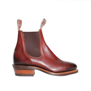 Burnished Lady Yearling, Rubber Sole - Mahogany