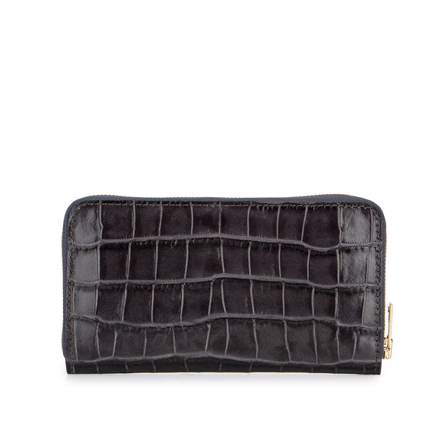 Mr Wallet Croc Flint