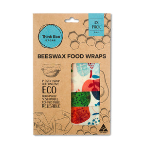 Beeswax Food Wraps — 3 Pack