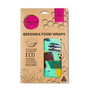Beeswax Food Wraps — 4 Pack