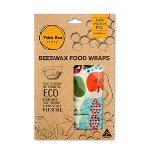 Load image into Gallery viewer, Beeswax Food Wraps — Medium Twin Pack