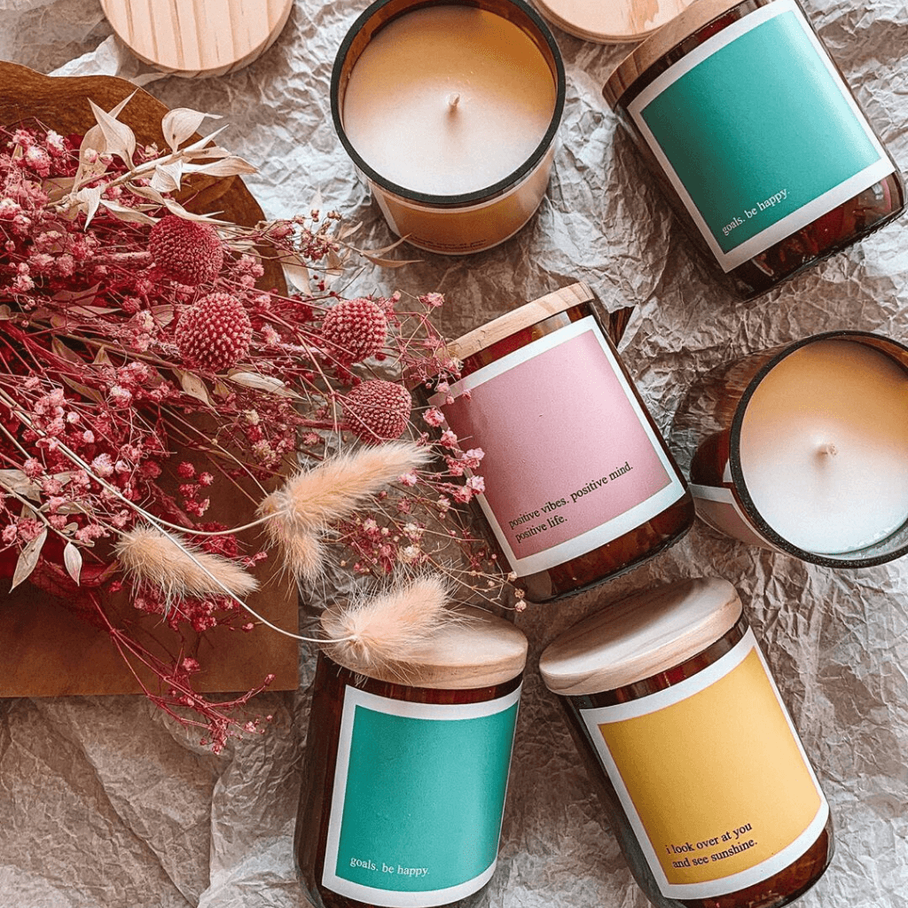 Goals: Be Happy Soy Candle ~ The Commonfolk Collective - Actually Boutique