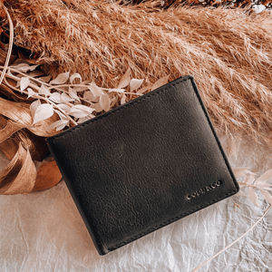 Lewis RFID Safety Leather Wallet ~ Black - Actually Boutique