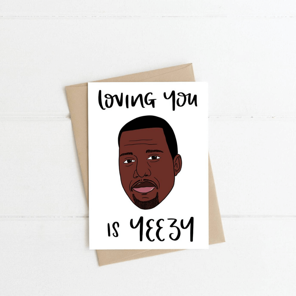 Kanye West ~ Greeting Card ~ K-Rae Designs - Actually Boutique