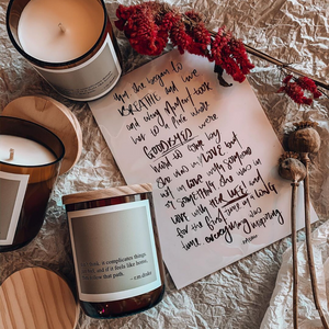 Don't Think...Just Feel Soy Candle ~ The Commonfolk Collective - Actually Boutique
