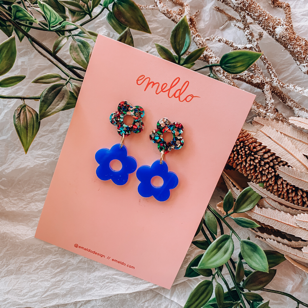Lola Flower Earrings ~ Emeldo - Actually Boutique