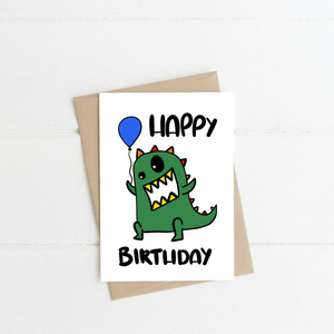 Dinosaur ~ Greeting Card ~ K-Rae Designs - Actually Boutique