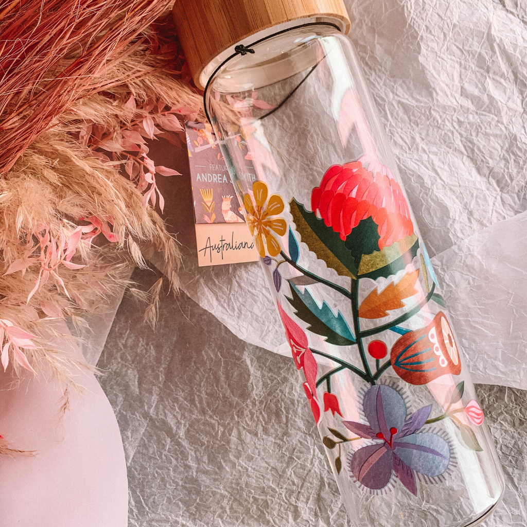 Flora Water Bottle ~ Australiana - Actually Boutique