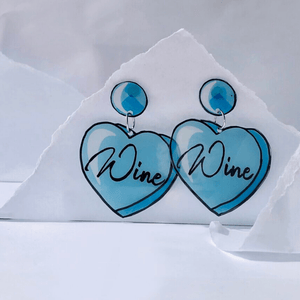 Wine Time Earrings ~ Cheersthanxalot - Actually Boutique