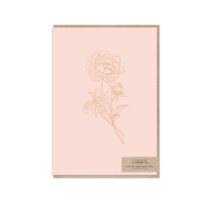 Blush Peony ~ Greeting Card ~ Typoflora - Actually Boutique