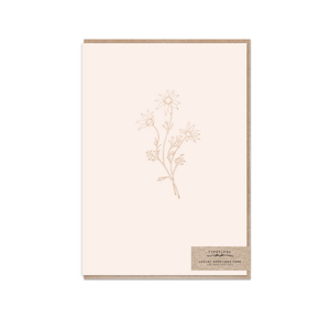 Cream Flannel ~ Greeting Card ~ Typoflora - Actually Boutique