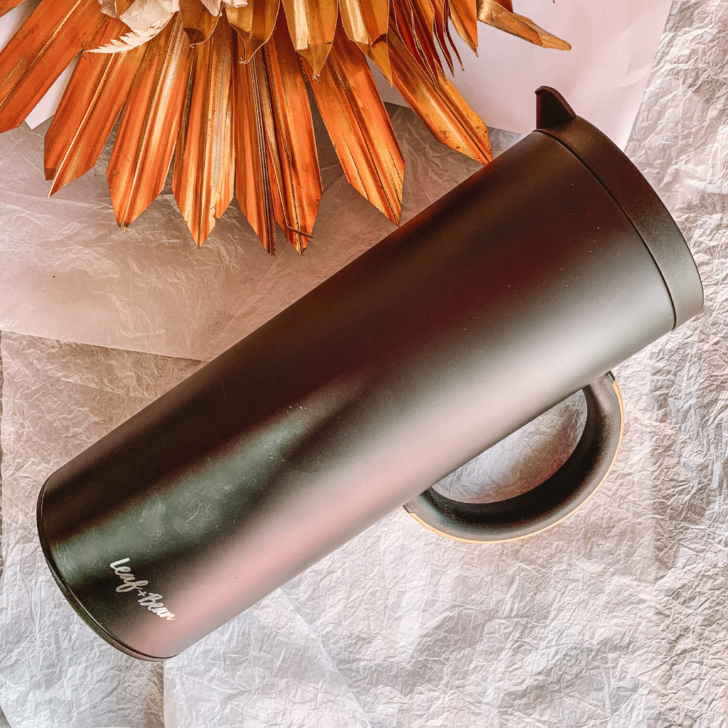 Insulated Vacuum Jug ~ Black ~ Leaf + Bean - Actually Boutique