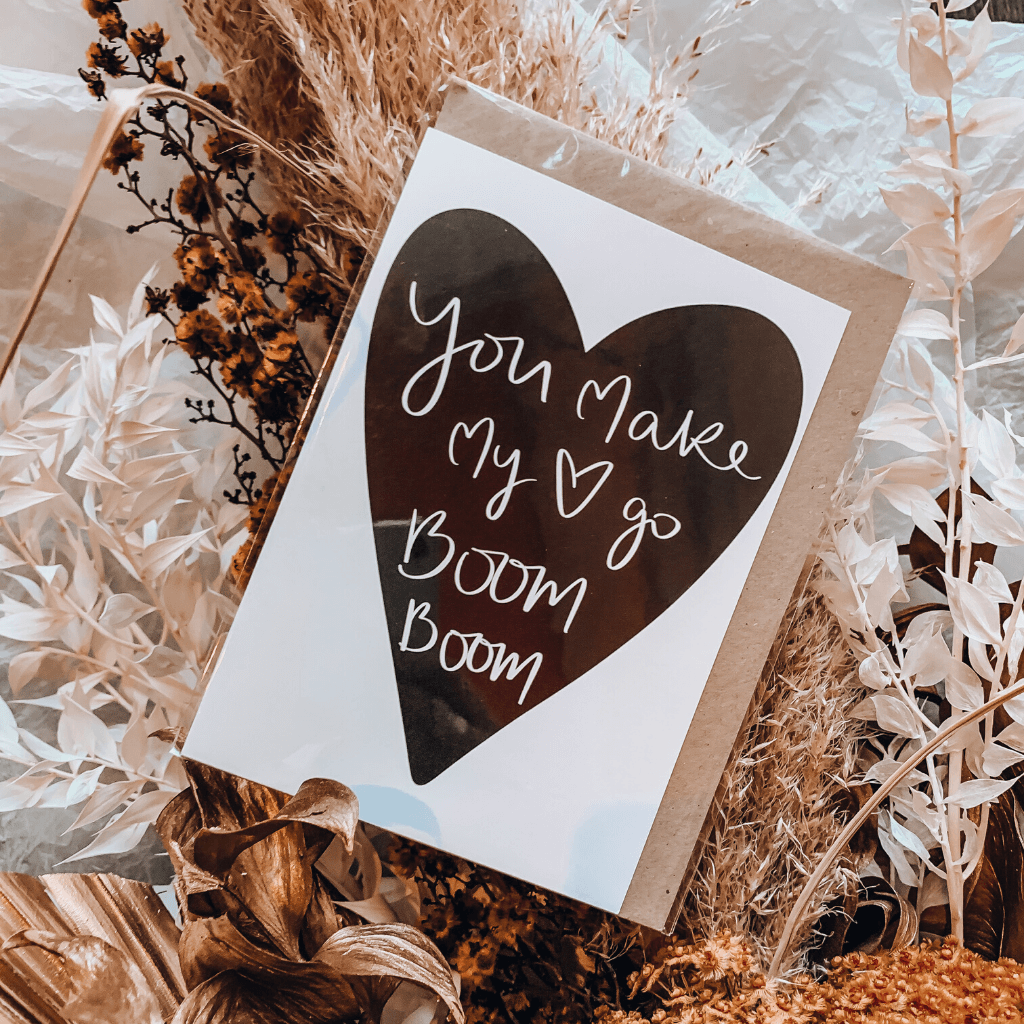 You Make My Heart Go Boom Boom ~ Greeting Card ~ K-Rae Designs - Actually Boutique