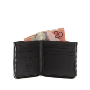 Tommy Leather Wallet ~ Black - Actually Boutique