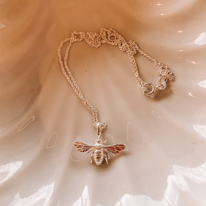Bee Necklace ~ Sterling Silver - Actually Boutique