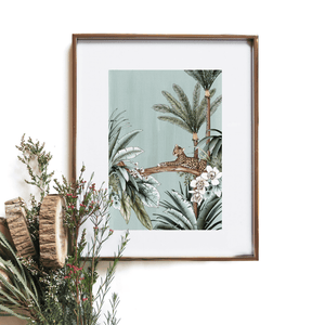 Dusty Blue Jungle ~ Artist Print ~ Typoflora