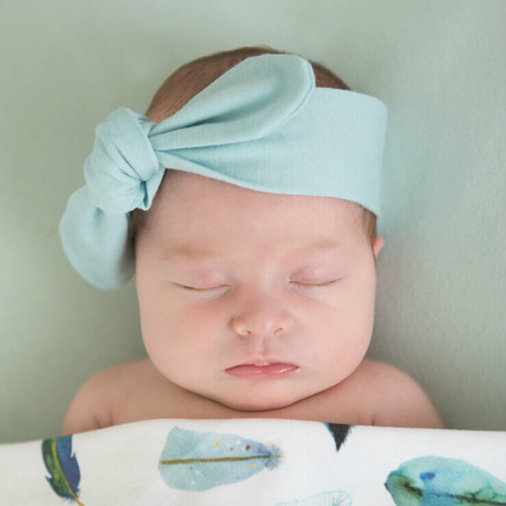 Topknot Baby Headband ~ Spearmint ~ Snuggle Hunny Kids - Actually Boutique