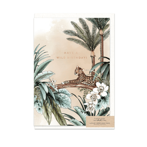 Wild Birthday ~ Greeting Card ~ Typoflora