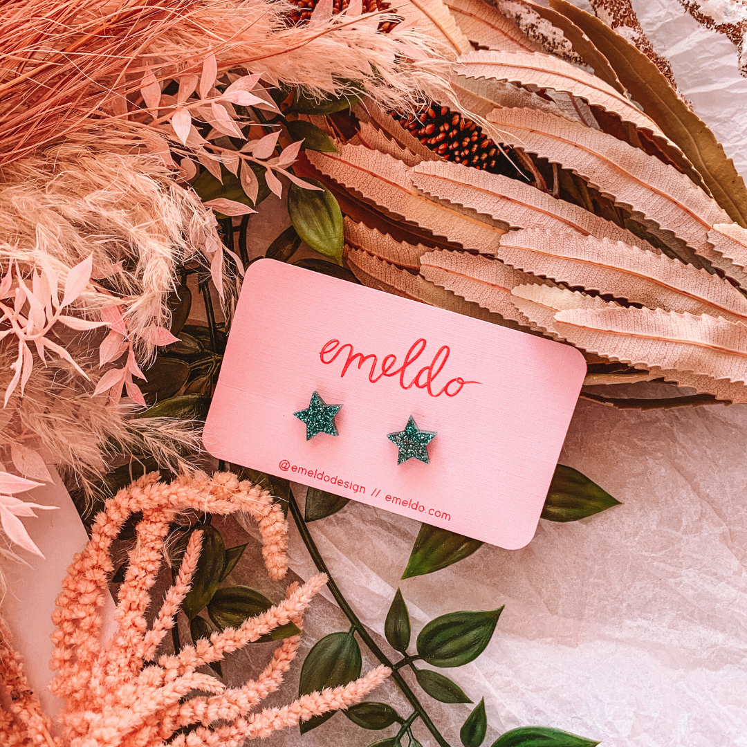 Star Studs ~ Emeldo - Actually Boutique
