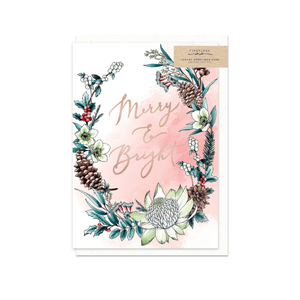 Merry & Bright ~ Christmas Card ~ Typoflora