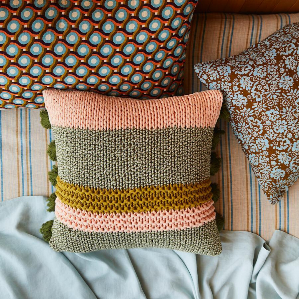 Maisy Knit Cushions ~ Sage and Clare - Actually Boutique
