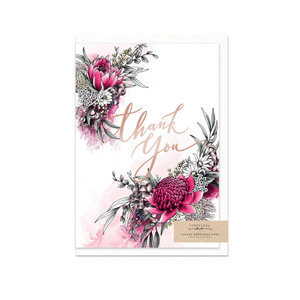 Thank You ~ Greeting Card ~ Typoflora - Actually Boutique