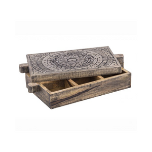 Casablanca Mango Wood Spice Storage Box ~ Davis & Waddell - Actually Boutique
