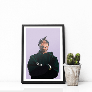 Tupac Print ~ A3 Unframed ~ DG Designs - Actually Boutique