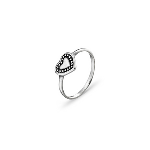 Heart Ring ~ Sterling Silver - Actually Boutique