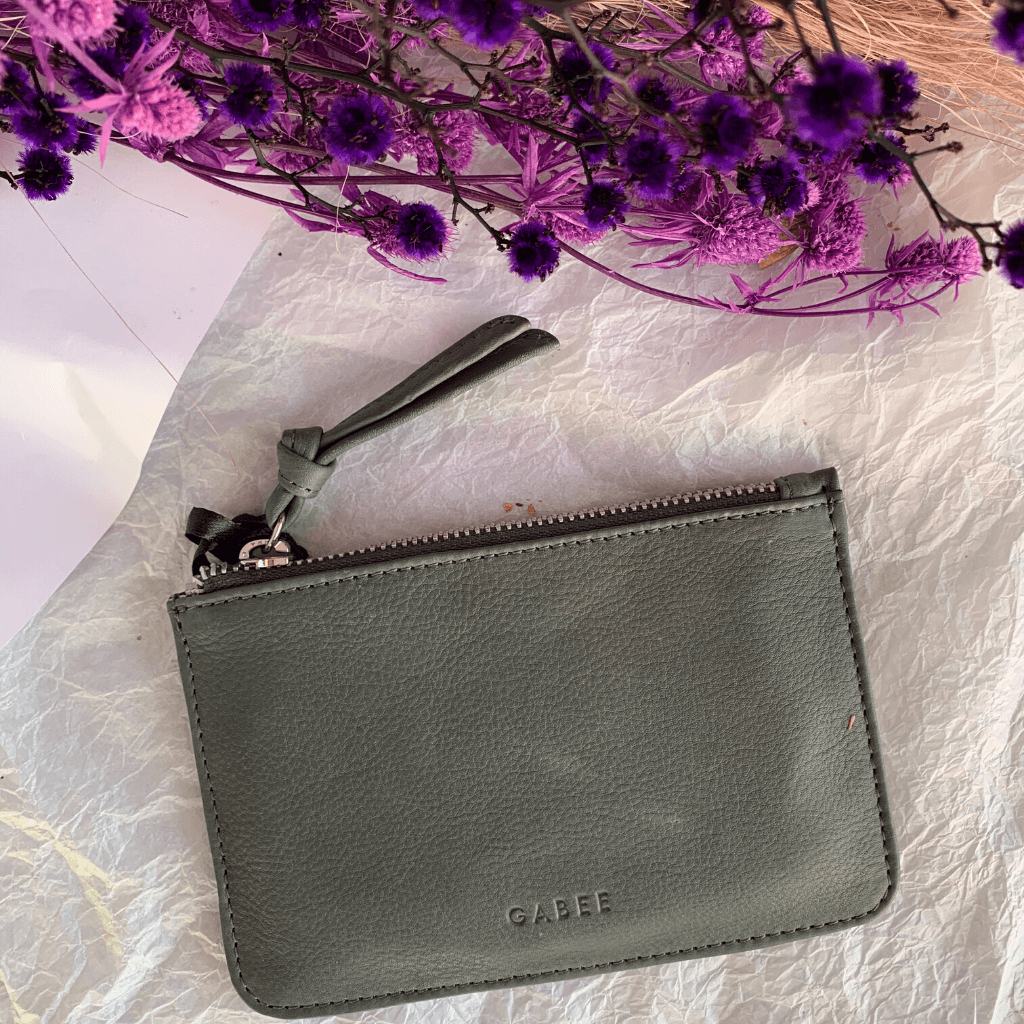 Village Leather Pouch ~ Smoke - Actually Boutique