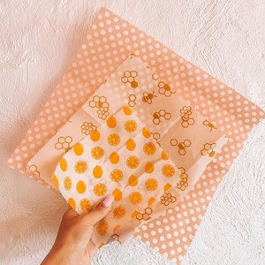 Reusable Beeswax Wraps ~ Set of 3 - Actually Boutique