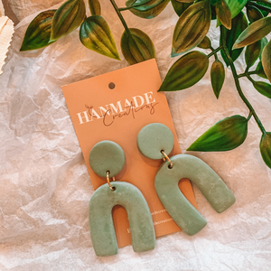 Arche Earrings ~ Green ~ Hanmade Creations - Actually Boutique