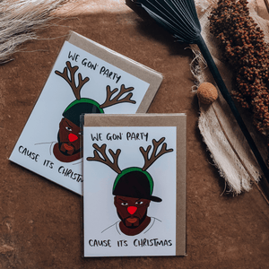 50 Cent Christmas ~ Greeting Card ~ K-Rae Designs