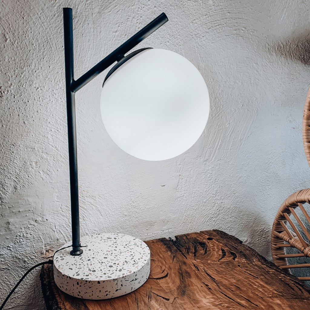 Flo Table Lamp ~ White + Black - Actually Boutique