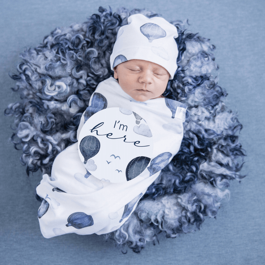 Jersey Wrap & Beanie Set ~ Cloud Chaser Baby ~ Snuggle Hunny Kids - Actually Boutique