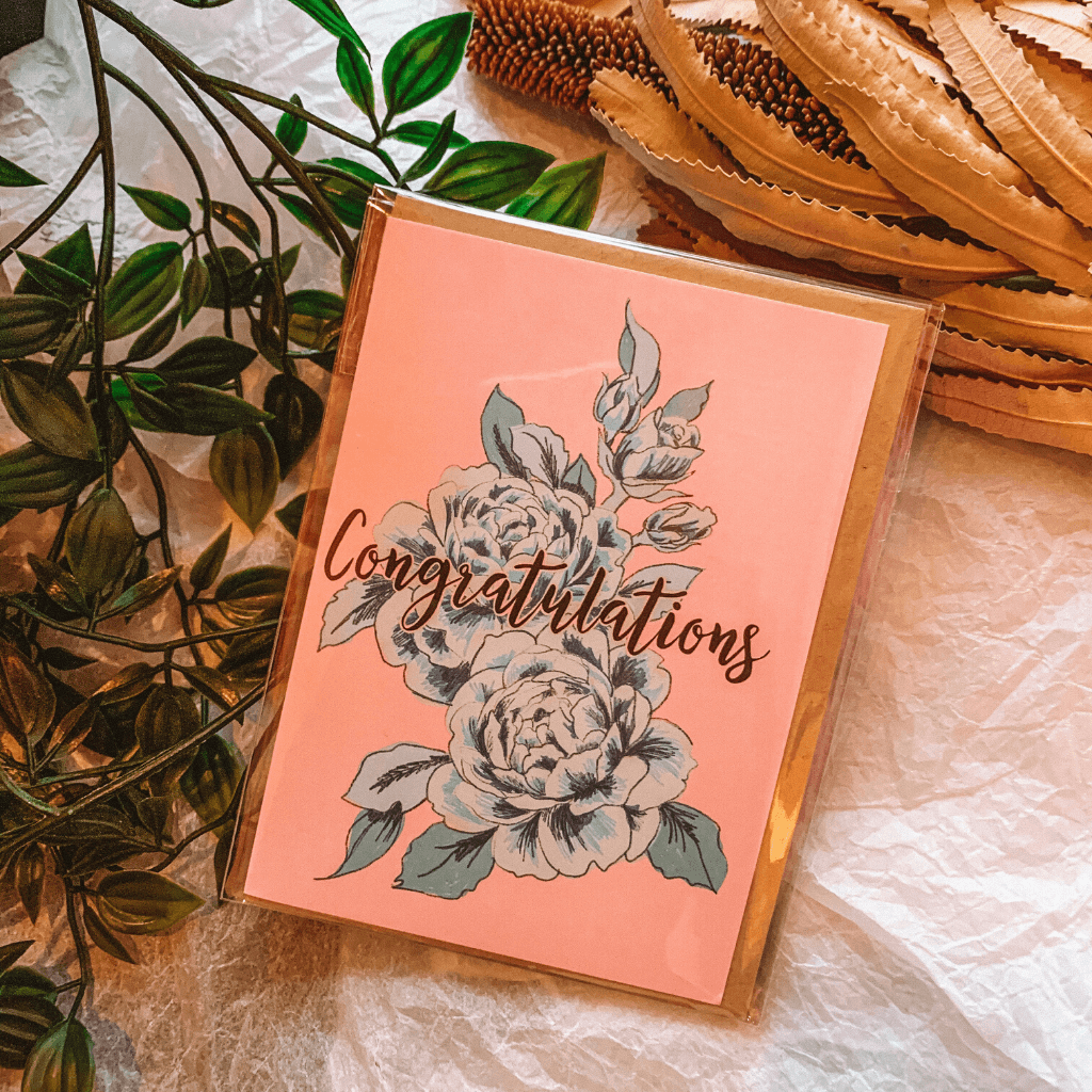 Floral Congratulations~ Greeting Card ~ Cheersthanxalot - Actually Boutique