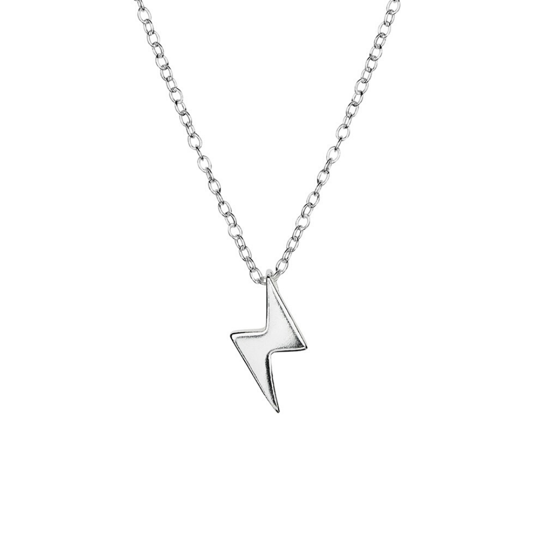 Lightening Bolt Necklace ~ Sterling Silver - Actually Boutique