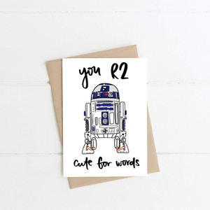 R2D2 ~ Greeting Card ~ K-Rae Designs - Actually Boutique