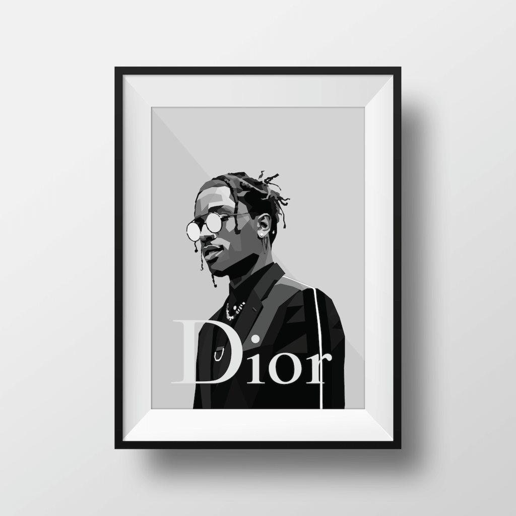 A$AP For Dior ~ A3 Framed ~ DG Designs - Actually Boutique