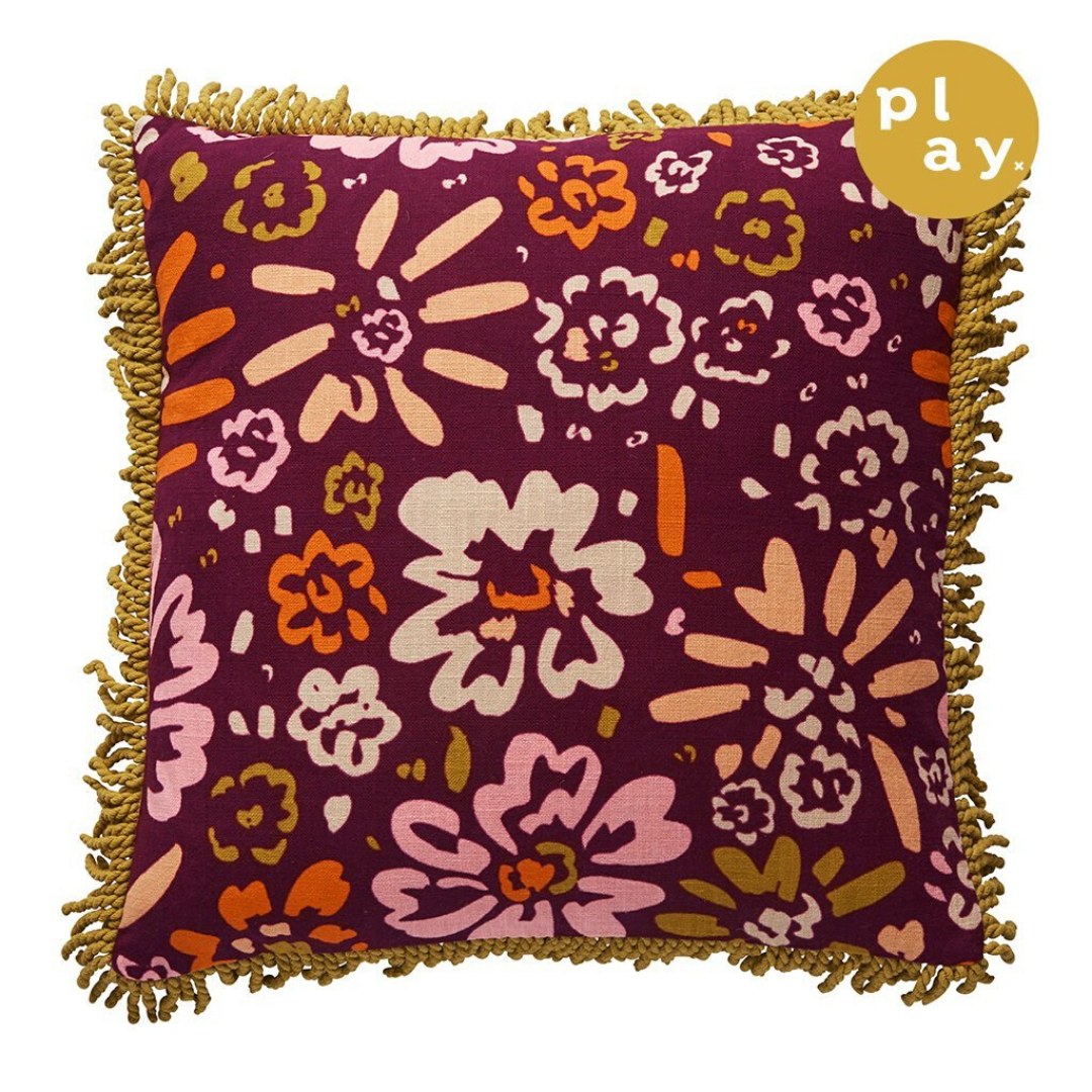Rafa Fringe Cushion ~ Sage and Clare - Actually Boutique